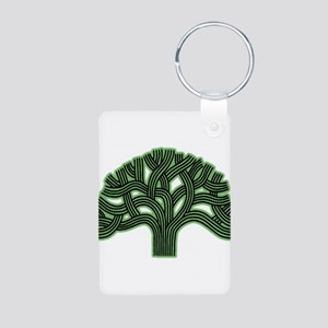 Oakland Tree Hazed Green Aluminum Photo Keychain