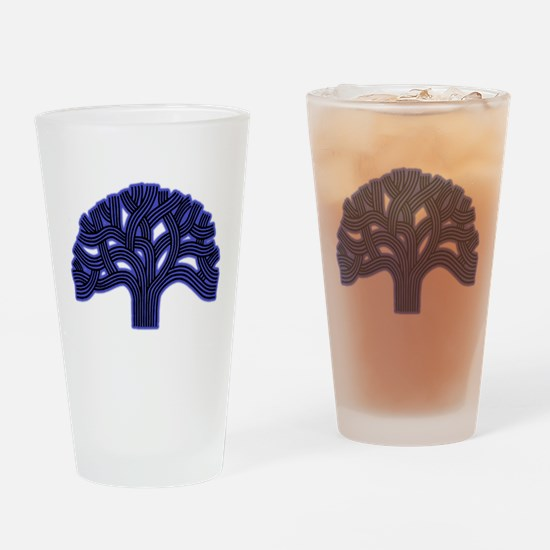 Oakland Tree Hazed Blue Drinking Glass