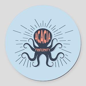 Acacia Octopus Round Car Magnet
