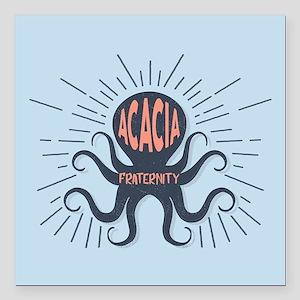 """Acacia Octopus Square Car Magnet 3"""" x 3"""""""