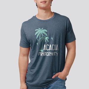 Acacia Palm Tree Mens Tri-blend T-Shirts