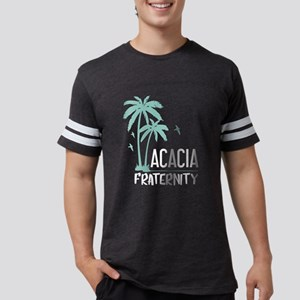 Acacia Palm Tree Mens Football T-Shirts