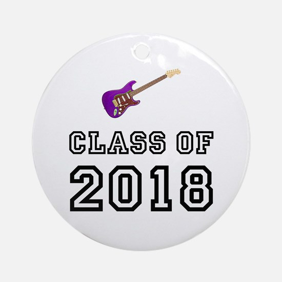 Class Of 2018 Guitar Ornament (Round)