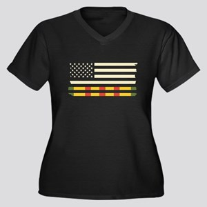 Vietnam Veteran Flag Plus Size T-Shirt