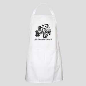 Still Plays with Tractors BBQ Apron