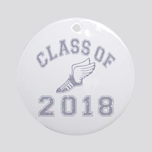 Class Of 2018 Track & Fields Ornament (Round)