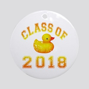 Class Of 2018 Duckie Ornament (Round)