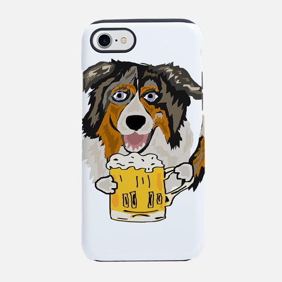 Australian Shepherd Dog Drinki iPhone 7 Tough Case