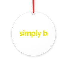 simply b Ornament (Round)