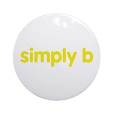 simply b Ornament (Round)