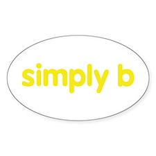 simply b Sticker (Oval)