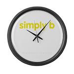 simply b Large Wall Clock