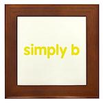 simply b Framed Tile
