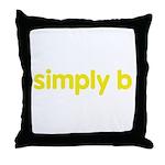 simply b Throw Pillow