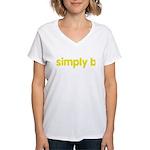 simply b Women's V-Neck T-Shirt