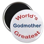 "W Greatest Godmother 2.25"" Magnet (10 pack)"