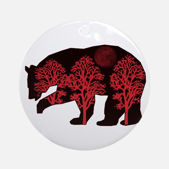 SEEING RED Round Ornament