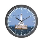 Grays Reef Light Large Wall Clock