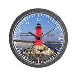 Manistique East Breakwater Light Wall Clock