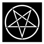 Pentagram Square Car Magnet 3