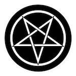 Pentagram Round Car Magnet