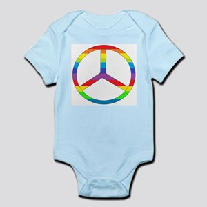 Peace Sign Rainbow Infant Bodysuit