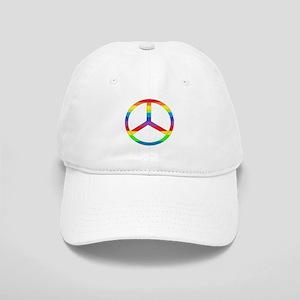 Peace Sign Rainbow Cap