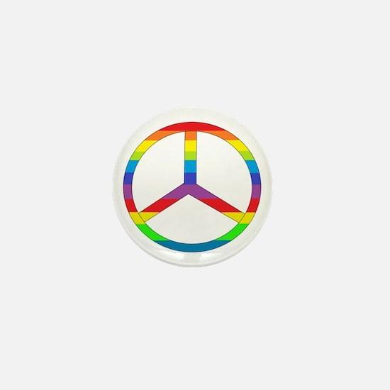 Peace Sign Rainbow Mini Button