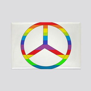 Peace Sign Rainbow Rectangle Magnet