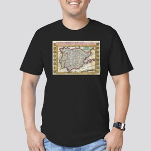 Vintage Map of Spain and Portugal (1747) T-Shirt