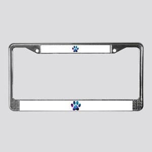 Galactic Paw Print License Plate Frame