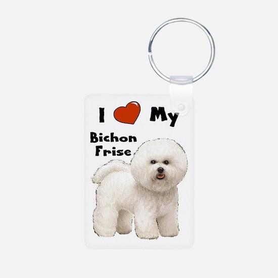 I Love My Bichon Frise Keychains
