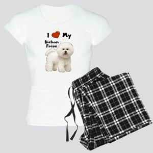 I Love My Bichon Frise Women's Light Pajamas