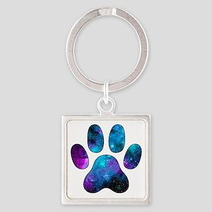 Galactic Paw Print Keychains