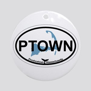 Provincetown MA - Oval Design. Ornament (Round)