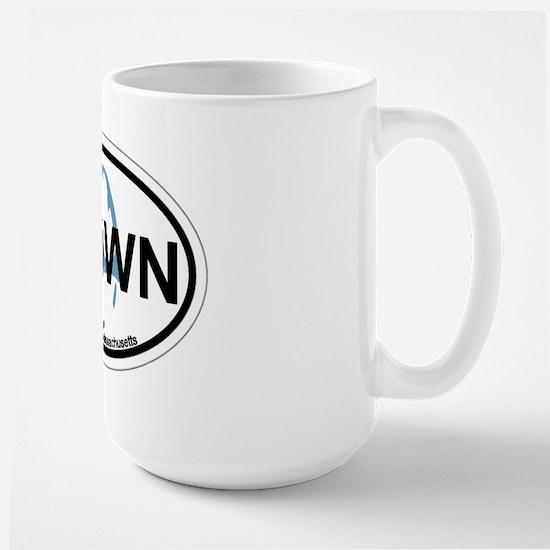 Provincetown MA - Oval Design. Large Mug