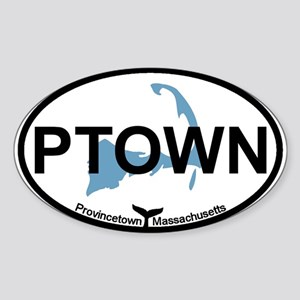Provincetown MA - Oval Design. Sticker (Oval)