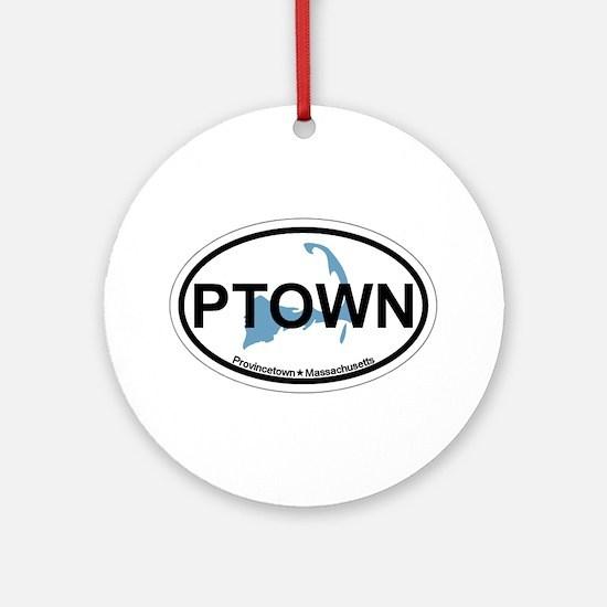 Provincetown MA - Oval Design. Ornament (Round)