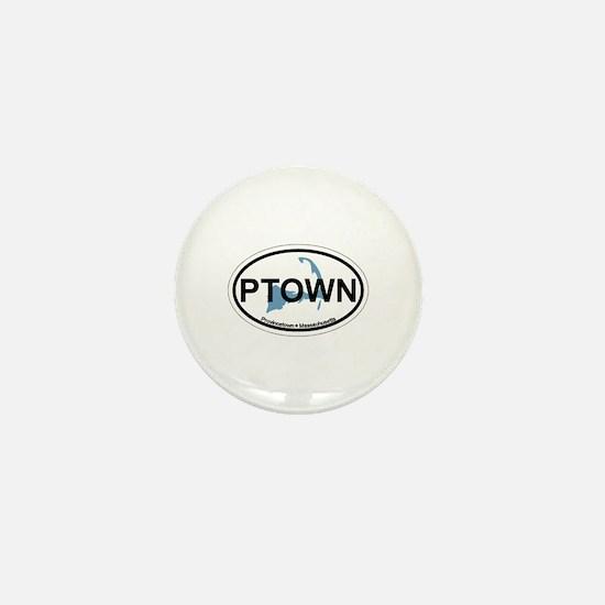 Provincetown MA - Oval Design. Mini Button