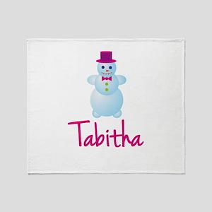 Tabitha the snow woman Throw Blanket