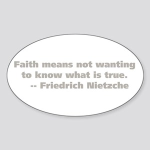 Faith Means Oval Sticker