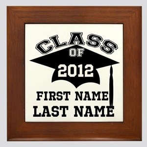 Customizable Senior Framed Tile