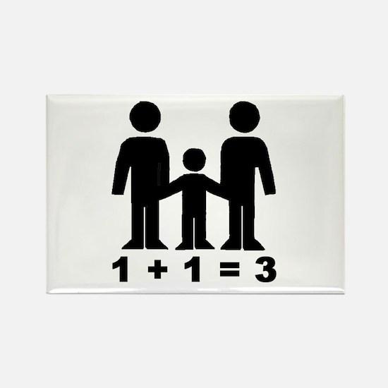 1 + 1 = 3 pregnancy announcement Rectangle Magnet