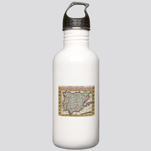 Vintage Map of Spain a Stainless Water Bottle 1.0L