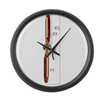 Wooden Propeller Schematic Large Wall Clock