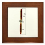 Wooden Propeller Schematic Framed Tile