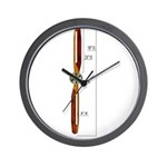 Wooden Propeller Schematic Wall Clock