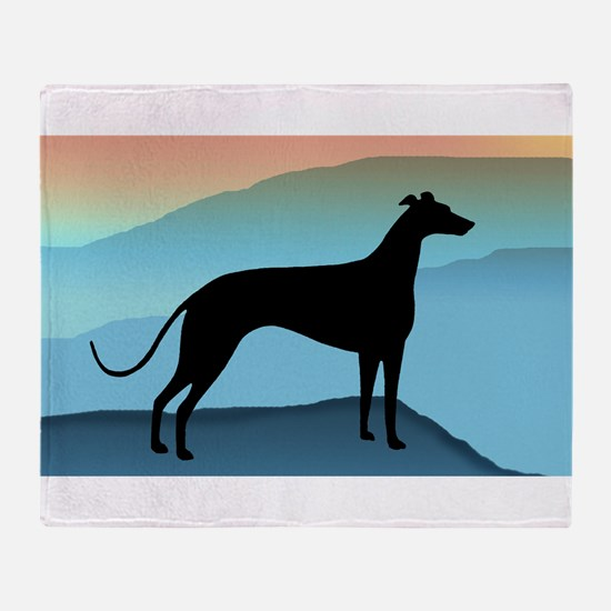 Funny Greyhound dogs Throw Blanket