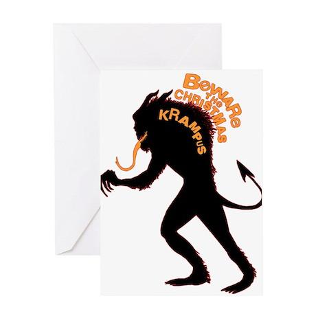 Beware the Krampus Greeting Card