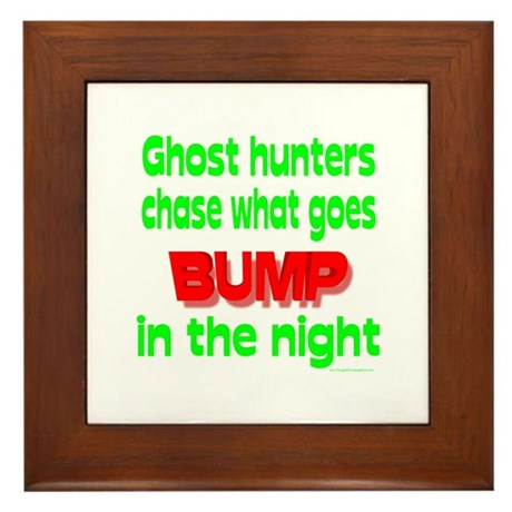 Ghost Hunters Bump in Night Framed Tile
